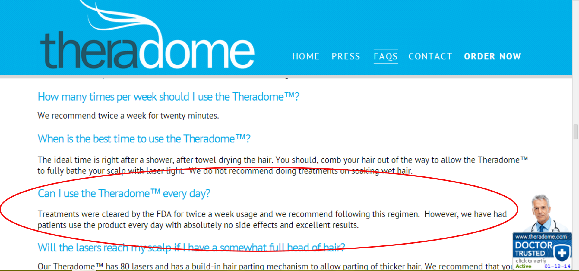 Theradome Every Day Use